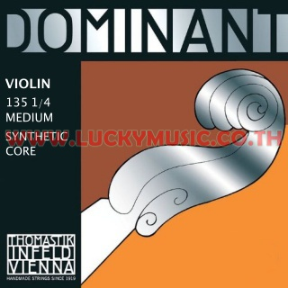 DOMINANT Violin Strings 135 1/4 Medium Synthetic Core
